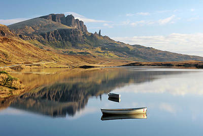 Poster featuring the photograph Storr Reflection by Grant Glendinning