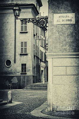 Strada Al Duomo - The Road To The Duomo Poster by Silvia Ganora