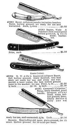 Straight Razors, 1895 Poster by Granger