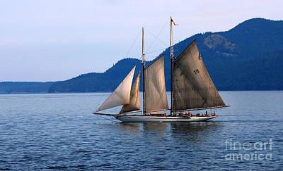 Strait Of Juan De Fuca Sailboat Poster