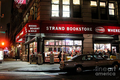 Strand Bookstore Poster by Nishanth Gopinathan