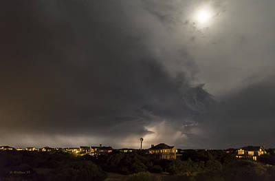 Strange Lightning Under The Moon Poster