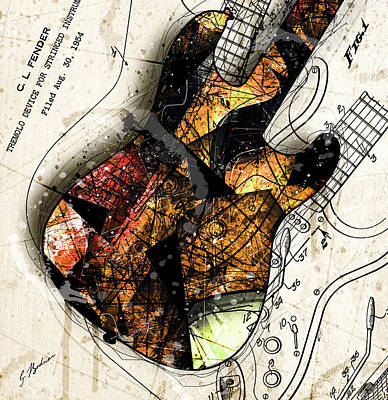 Strat Abstracta No. 4 Sunrise Poster by Gary Bodnar