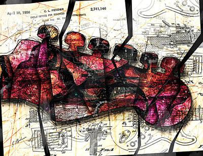 Strat Abstracta No. 6c  Poster by Gary Bodnar