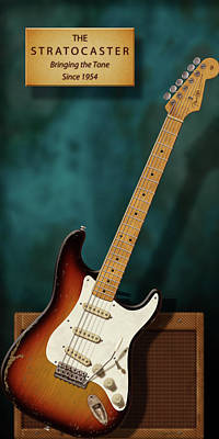 Stratocaster Anniversary 2 Poster by WB Johnston