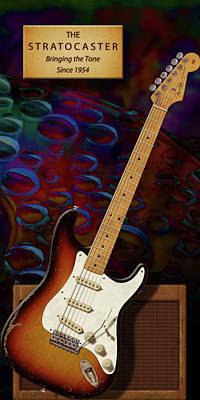 Stratocaster Anniversary V Poster by WB Johnston