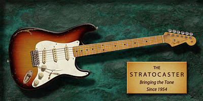 Stratocaster Anniversary Poster by WB Johnston