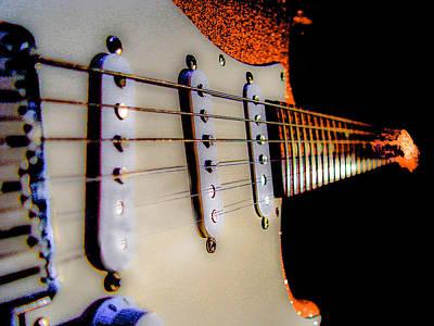 Stratocaster Pop Art Tangerine Sparkle Fire Neck Series Poster