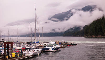 Stratus Clouds Over Horseshoe Bay Poster