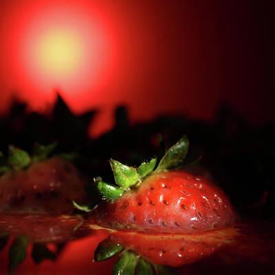 Strawberries In Motor Oil Poster