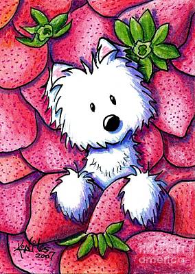 Strawberries N Cream Poster by Kim Niles