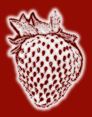 Strawberry Poster by Frank Tschakert