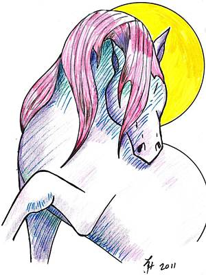 Strawberry Horse Poster
