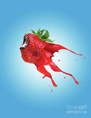 Strawberry Poster by Juli Scalzi