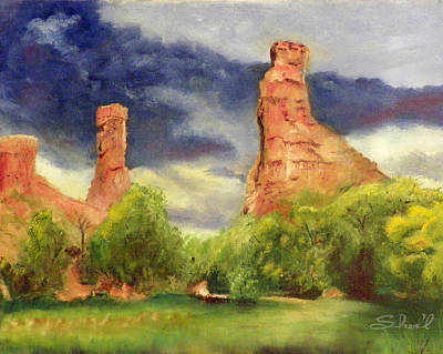 Poster featuring the painting Strawberry Pinnacles by Sherril Porter