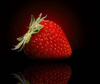 Strawberry Sensuality Poster by Georgiana Romanovna
