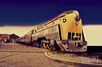 Streamlined Alco 4-6-4, Co 490  Hudson Type Locomotive Poster by Wernher Krutein