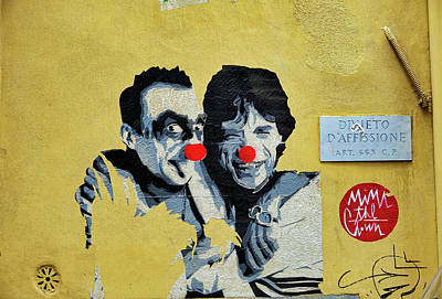 Street Art In The Trastevere Neighborhood In Rome Italy Poster