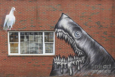 Street Art Portsmouth New Hampshire Poster by Edward Fielding
