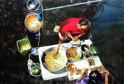 Street Food Vendor In Bangkok Poster by V  Reyes