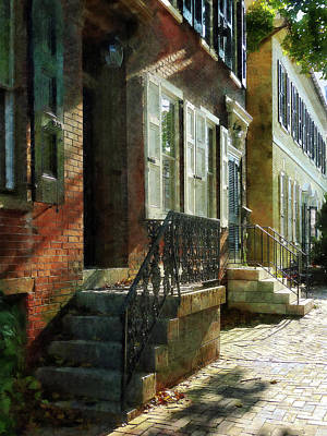 Street In New Castle Delaware Poster by Susan Savad