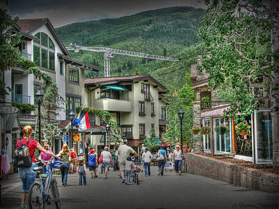 Street Life In Vail Poster