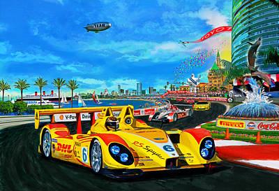 Street Racing Poster by Alan Greene