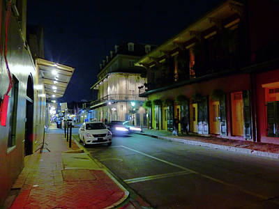 French Quarter Street Scene Poster