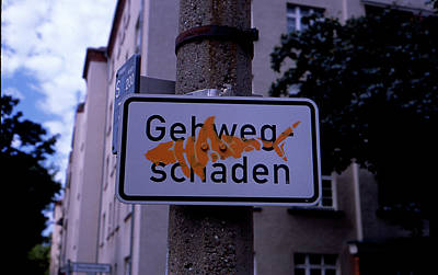 Street Sign With Graffiti Poster