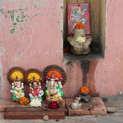 Street Temple, Haridwar Poster by Jennifer Mazzucco
