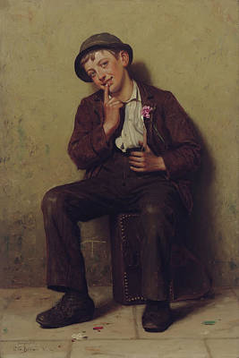Street Urchin Poster by John George Brown