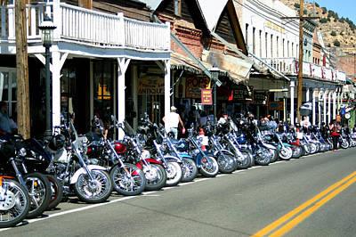 Street Vibrations In Virginia City Nevada Poster
