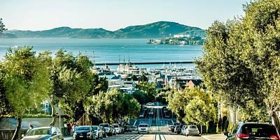 Street Views And Scenes Around San Francisco California Poster