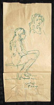Street Walker Poster by Radical Reconstruction Fine Art Featuring Nancy Wood