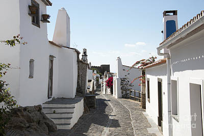 Street With White Houses Monsaraz Poster by Compuinfoto