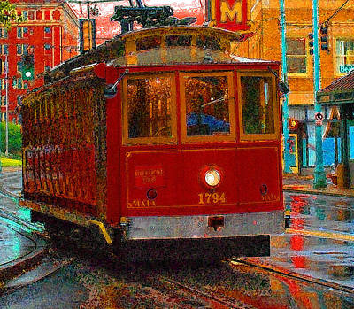 Streetcar In Memphis Poster by Don Wolf