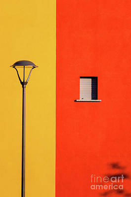 Streetlamp Window And Shadow Poster by Silvia Ganora