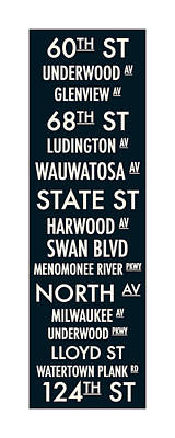 Streets Of Wauwatosa Poster by Geoff Strehlow
