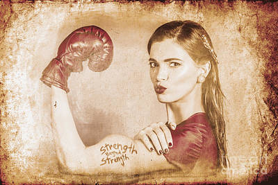 Strength Beyond Strength Poster by Jorgo Photography - Wall Art Gallery