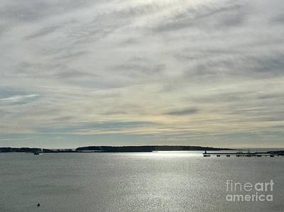 Striated Sky Over Casco Bay Poster