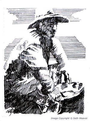 Poster featuring the drawing Striking It Rich by Seth Weaver
