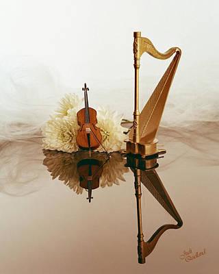 String Duet Poster by Judi Quelland