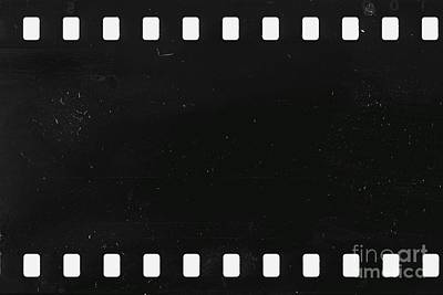 Strip Of Old Celluloid Film With Dust And Scratches Poster