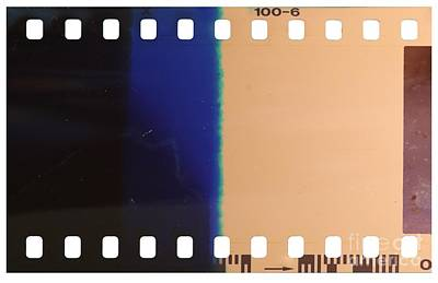 Strip Of The Poorly Exposed And Developed Celluloid Film Poster