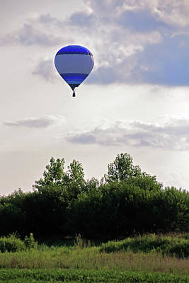 Poster featuring the photograph Striped Balloon by Angela Murdock