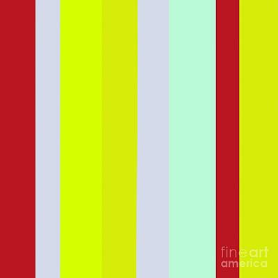 Striped Color Brown Blue Green Poster