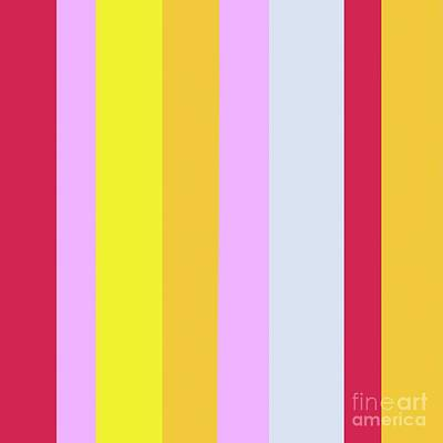 Striped Color In Pastels Poster