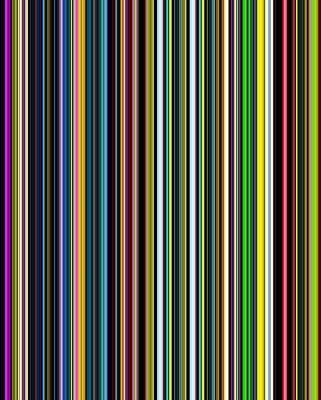 Stripes Of A Moment #v002 Poster by Eva Vladi