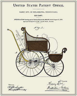 Stroller Patent Poster by Finlay McNevin