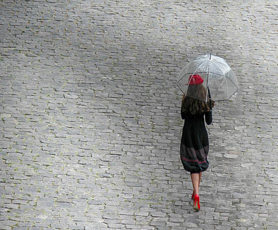 Strolling In Paris Poster